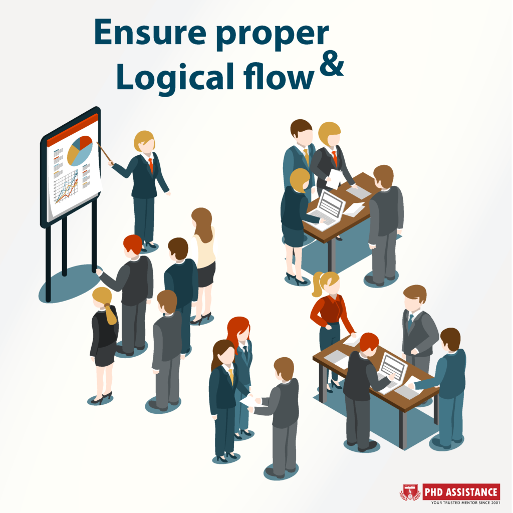 Ensure proper Logical flow – Headings and Sub Headings