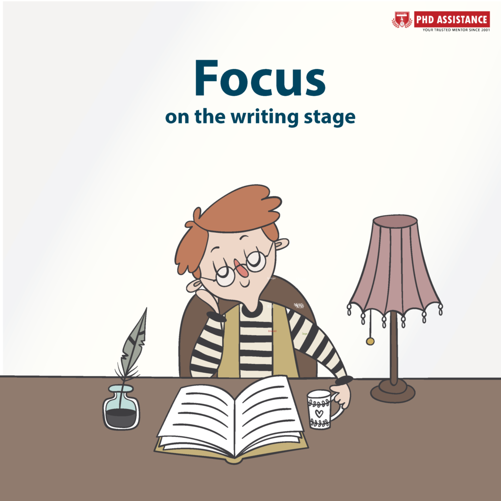 Focus on the writing stage Storyline creation