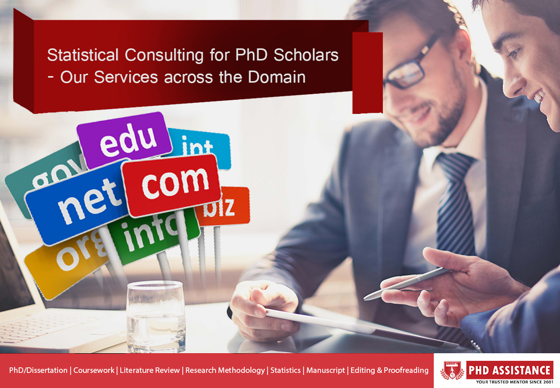 Statistical Consulting for PhD Scholars – Our Services across the Domain