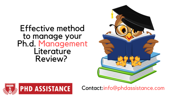 How to cope up with a huge amount of literature while writing your Ph.d. management literature review?