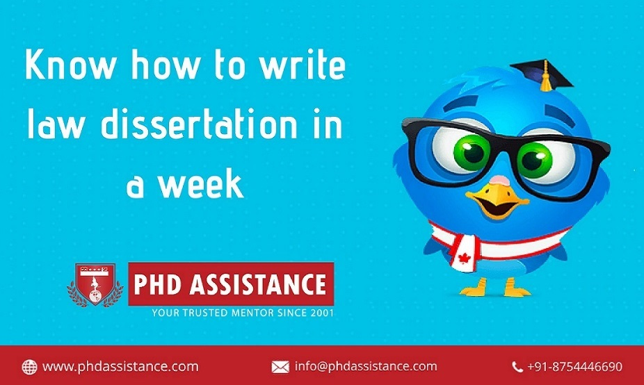 Know how to write law dissertation in a week..?