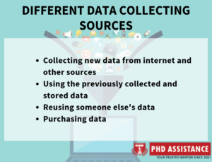 different data collecting sources