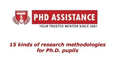 15 Kinds Of Research Methodologies For Phd. Pupils