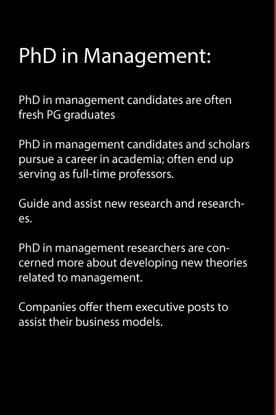Differences Between PhD in Management and DBA, and Their Scope.